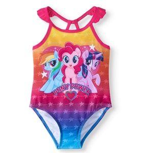 Tod Girls My Little Pony 1 Piece Swimsuit 2T NWT